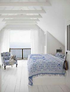 WHITE BEAMS CEILING Scandinavian+Cottage+Style | Coastal Style: Swedish Holiday Cottage