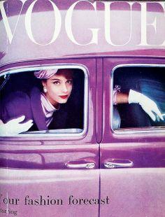 1957 Vogue #purple #fashion #style