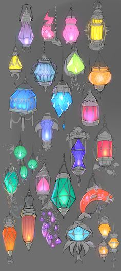 """cassycas: """" tookipalooki: """" The night is dark, take a lantern with you to guide your way… I'd pick the middle right red one """" @changelingthelost """""""