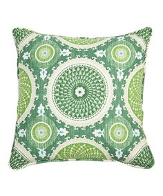 http://www.zulily.com/invite/emsmom Take a look at this Jade Bohemian Fiesta Pillow by Loni M.