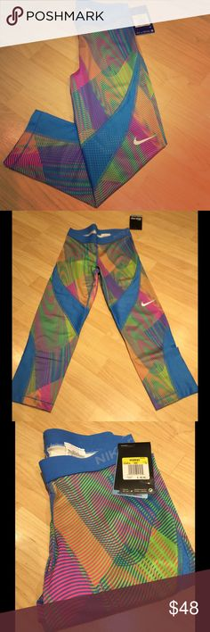 NWT Nike Pro Hypercool Frequency Designed with stretchy sweat-wicking fabric and mesh for streamlined comfort and ventilation.  Ultralight and soft, body-hugging fit and flat elastic waistband.  Can wear alone or as a base layer. Make an offer! Nike Pants Track Pants & Joggers