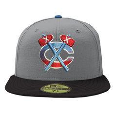 Chicago Blackhawks City of Chicago Grey / Black 59FIFTY Cap  #ChicagoBlackhawks #NHL