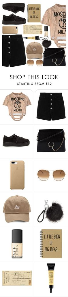"""TANTAN."" by valemx ❤ liked on Polyvore featuring Moschino, rag & bone/JEAN, Chloé, NARS Cosmetics, Art Classics and Lancôme"