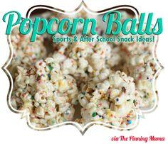 Popcorn balls - great after-school snack!