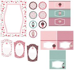 Image detail for -Printables & Templates - Cherry Cupcake Party - ..