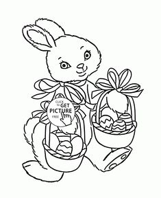 Best Free Easter Bunny Coloring Pages 60 Cute Easter Bunny coloring