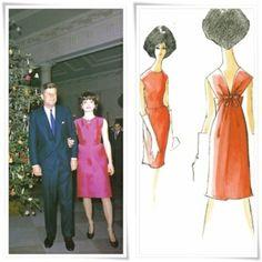 outfits oleg cassini designed for jackie kennedy Jacqueline Kennedy Onassis, Estilo Jackie Kennedy, Los Kennedy, Lou Fashion, Vintage Wardrobe, Vintage Couture, Vogue, Vintage Dresses, Outfits