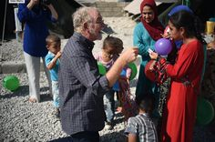 Bob hanging out with our kids from the refugee camp in northern Iraq #LoveDoes #BobGoff #RestoreIraq