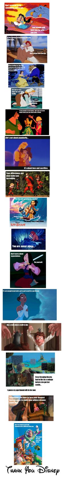 Disney lessons! Thank you Disney for all these years of happiness <3