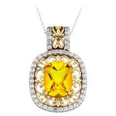 Beautiful Yellow Emerald golden beryl pendant!