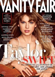 Taylor Swift on the cover of Vanity Fair's April issue.
