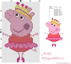 George Pig Knitting Pattern Jumper : Peppa pig knit charts on Pinterest Peppa Pig, George Pig and Punto De Cruz