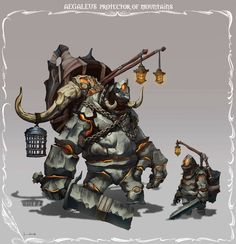 Aegaleus, Protector of Mountains Type: Rock Media: Artstation by Hueala…