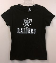 Just $16.99 !! Oakland Raiders Women's T-Shirt Glitter Screen Print Graphics NEW/NWT Large #VFImagewearNFLApparel #OaklandRaiders