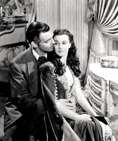 Clark Gable and Vivien Leigh as Rhett and Scarlett / Gone with the Wind