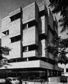 Mixed Use Building, Cassarate-Tessin, Switzerland, designed by P. Brivio, 1960s