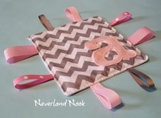 Personalized Crinkle Ribbon Sensory Toy - Crinkle Chevron Blanket - Crinkle Toy - Sensory Baby Toy - Riley Blake Chevron Fabric. $10.00, via Etsy.