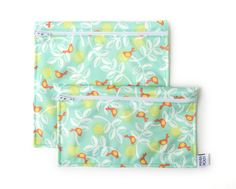 2 Reusable bags - one snack bag one sandwich bag - birds Reusable Sandwich Bags, Reusable Bags, Lunch Bags, Snack Bags, Produce Bags, Save The Bees, Etsy Seller, Decorative Boxes, Snacks