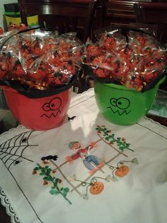 Pop cakes de calabazas para Halloween.   Ricas y novedodsas.