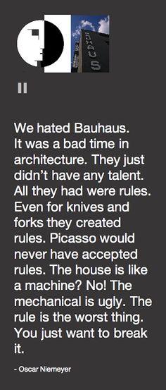 Bauhaus por Oscar Niemeyer