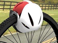 Le problème pour ceux qui choisissent le vélo est le fait qu'il faut trimballer un casque et un verrou de sécurité partout. Un groupe de quatre designers propose de faire plus simple grâce à leur concept baptisé Head-Lock.