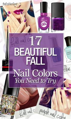 I wouldn't wear all of them, but there are some pretty fall nail polish colors here that I'd like to try.