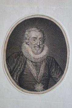 Henri IV, eau-forte ou pointillé anonyme, d'après le portrait gravé par P. Al. Tardieu d'après Pourbus publié en 1785 dans l'édition des Oeuvres de Voltaire.-