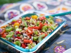 Get Spicy Black-Eyed Pea Salad Recipe from Food Network