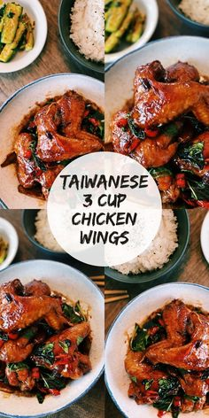 Today I am sharing with you a super UNDERRATED dish that honestly deserves all the hype – Taiwanese 3 Cup Chicken (San Bei Ji). Asian Noodle Recipes, Healthy Asian Recipes, Asian Chicken Recipes, Vegetarian Recipes, Authentic Chinese Recipes, Easy Chinese Recipes, 3 Cup Chicken, Chicken Wings, Tandoori Chicken