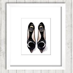Dior Fashion Print Christian Dior Shoes Black by ChezLorraines