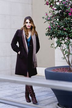 Brown Coat #winter #outfit