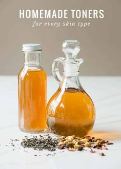 Toner might seem like an afterthought, but it's an important part of a skincare regimen. These homemade toner recipes are simple, effective, and natural. Homemade Toner, Homemade Skin Care, Diy Skin Care, Homemade Beauty, Skin Care Tips, Skin Tips, Toner For Face, Facial Toner, Facial Care