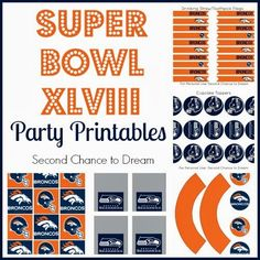 Second Chance to Dream: Super Bowl XLVIII Broncos and Seahawks printables