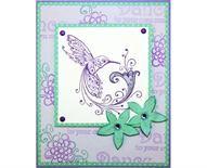 Inkadinkado®   Hummingbird Dance Card