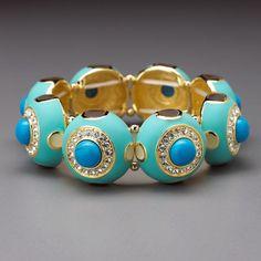 Turquoise Enameled Stretch Bracelet by Lenox