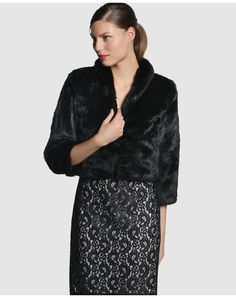 Bolero de mujer Fiesta El Corte Inglés Nice Outfits, Moda Online, Blazers, Fur Coat, Party, Fashion, Jacket, Party Outfits, Shawl