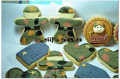 military dog tag cookies