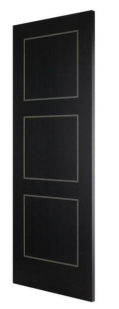 Monaco Ebano 3-Panel Bespoke door - beautiful black internal modern door for every home