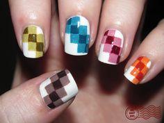 Nail Art Uñas pixeles