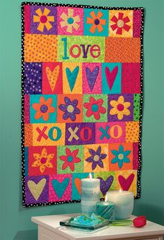 Code: ISBN: 9781564777478 Author: Linda Lum DeBono Girls, get sewing--because crafty is cool! Teens and tweens with a funky fashion sense will love creating these fast, fun quilts and gifts. Twenty hip projects use bright fabrics and simple-to-stit Quilting Projects, Quilting Designs, Sewing Projects, Mini Quilts, Baby Quilts, Children's Quilts, Heart Quilts, Paisley Quilt, Textiles