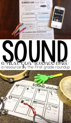 This hands on unit on sound is the perfect way to connect the Next Gen Science Standards for sound to the real world through experiments, exploration and STEM projects!