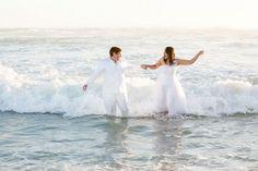 Nadhia and Ria's Cape Town beach wedding No it was not a trash the dress!  This was the ACTUAL wedding day!  #samesexwedding #weddingfun #spontaneouscouple #beachwedding