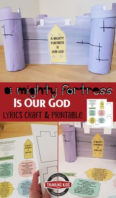 A Mighty Fortress is Our God Lyrics Craft Teach your kids about the hymn by Reformer Martin Luther with this fun printable craft! Sunday School Crafts For Kids, Bible Crafts For Kids, Preschool Crafts, Lessons For Kids, Bible Lessons, Primary Lessons, Reformation Sunday, Martin Luther Reformation, Homeschool Curriculum