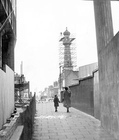 Birmingham hippodrome from small brook Queensway 1960 Birmingham City Centre, The Second City, Birmingham England, Mirror Pic, Scaffolding, Big Ben, Places To See, 1960s