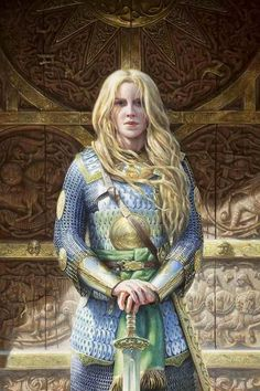Tall ships and tall kings Three times three.R Tolkien Character Portraits, Character Art, Character Ideas, Fantasy Characters, Female Characters, Fantasy Figures, Shield Maiden, Jrr Tolkien, Fantasy Warrior