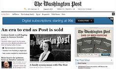 L'acquisizione delWashington Post, storico quotidiano americano fondato nel 1877, da parte diJeff Bezos, fondatore di Amazon, ha di fatto creato un vero ter