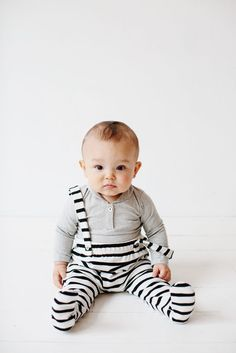 How cute is this baby? And the jumpsuit!