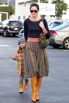 Michelle Monaghan and her daughter Willow wear matching boots while shopping at #FredSegal in Los Angeles on Dec 18, 2012 http://celebhotspots.com/hotspot/?hotspotid=23597&next=1