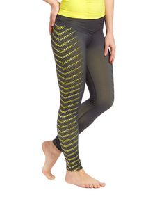 Look at this #zulilyfind! Blazing Yellow Graphic Allure Leggings by Respect Your Universe #zulilyfinds