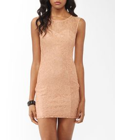 Textured Lace Sheath Dress (Peach). Forever 21. $19.80